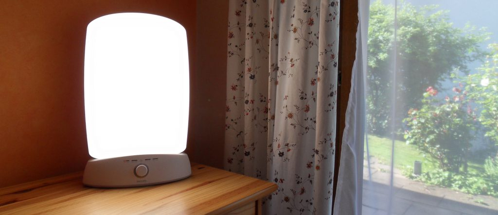 SAD Light on table by window