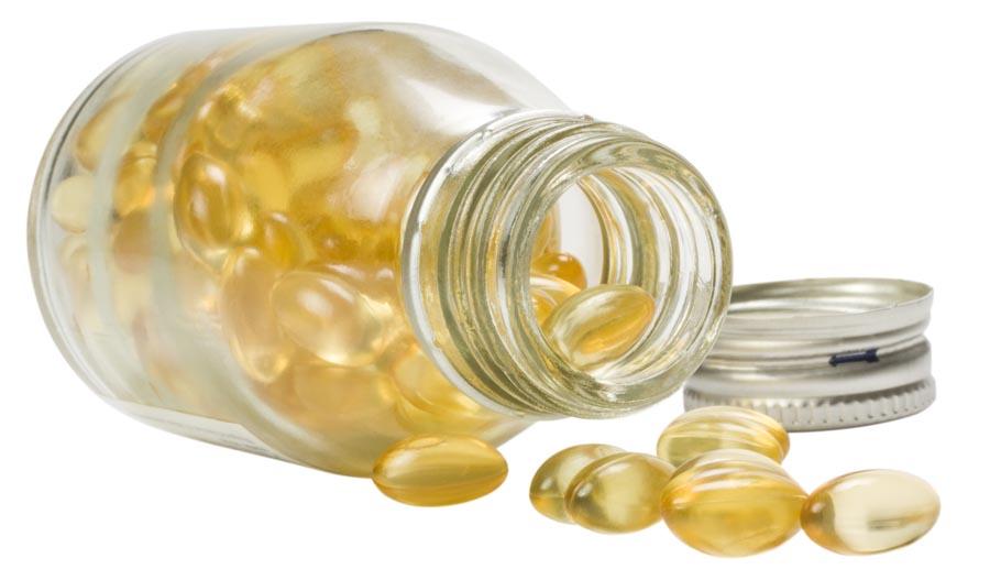 Close-up of a pill bottle
