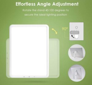 TaoTronics Light Therapy Lamp angle adjustment